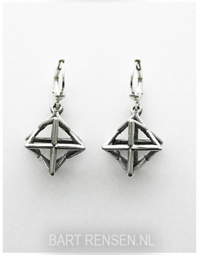 Ster-tetraëder earrings - sterling silver