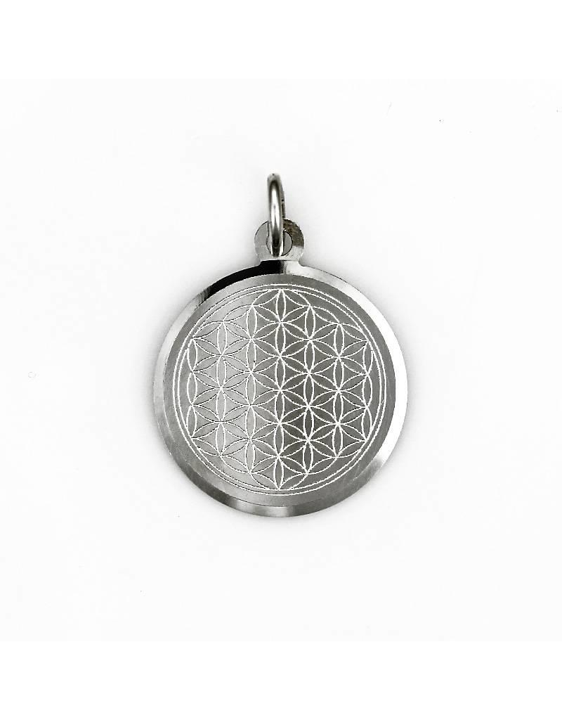 Engrave pendant silver flower of life pendant sterling silver mozeypictures Gallery
