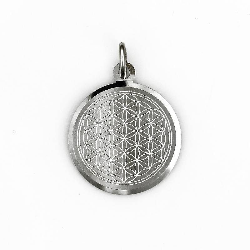 Engrave pendant silver flower of life pendant sterling silver aloadofball Choice Image