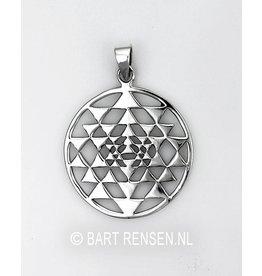 Sri Yantra pendant - silver