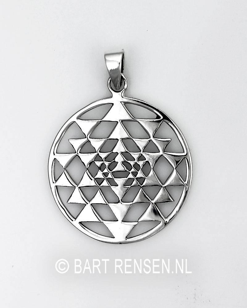 Yantra pendant sri yantra pendant sterling silver mozeypictures Choice Image