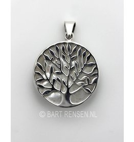 Tree of life pendant with stone - silver