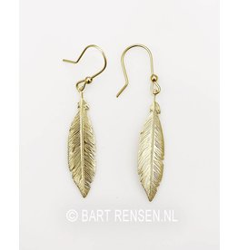 Feather Earrings - Silver