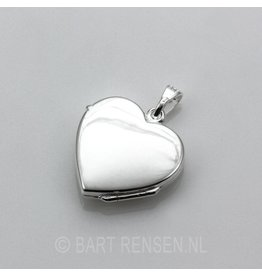 Heart medallion - silver