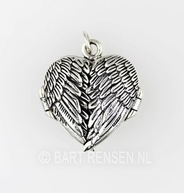 Engel medaillon hanger - zilver