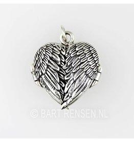 Angel medallion pendant - silver