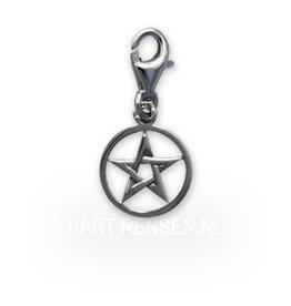Pentagram Charm - silver