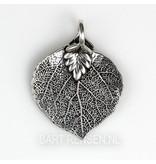 Boeddha boom blad hanger - echt zilver