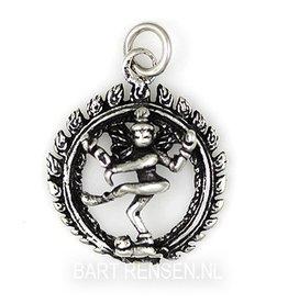 Shiva pendant - silver