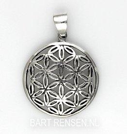 Flower of Life hanger - zilver