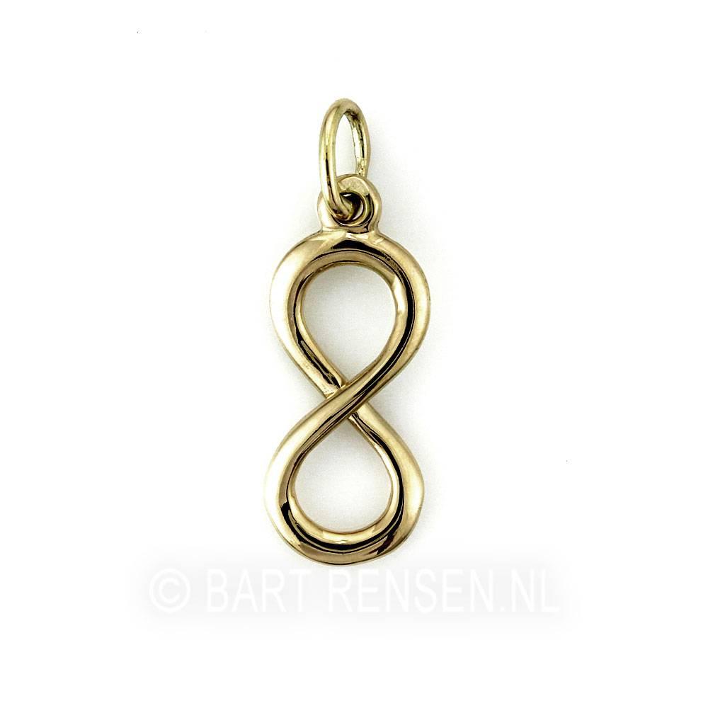 Lemniscaat - Infinity hanger - 14 krt goud