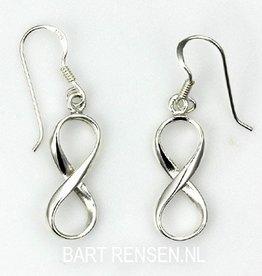 Infinity oorhangers - zilver