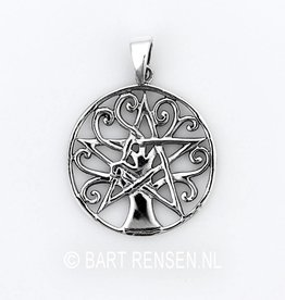 Tree of Life - Pentacle - silver