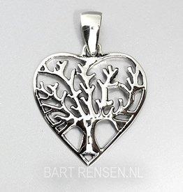 Lifetree Heart pendant - silver