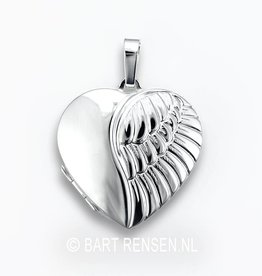 Medallion Angel Wing - silver