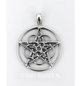 Pentacle pendant Circles - Silver