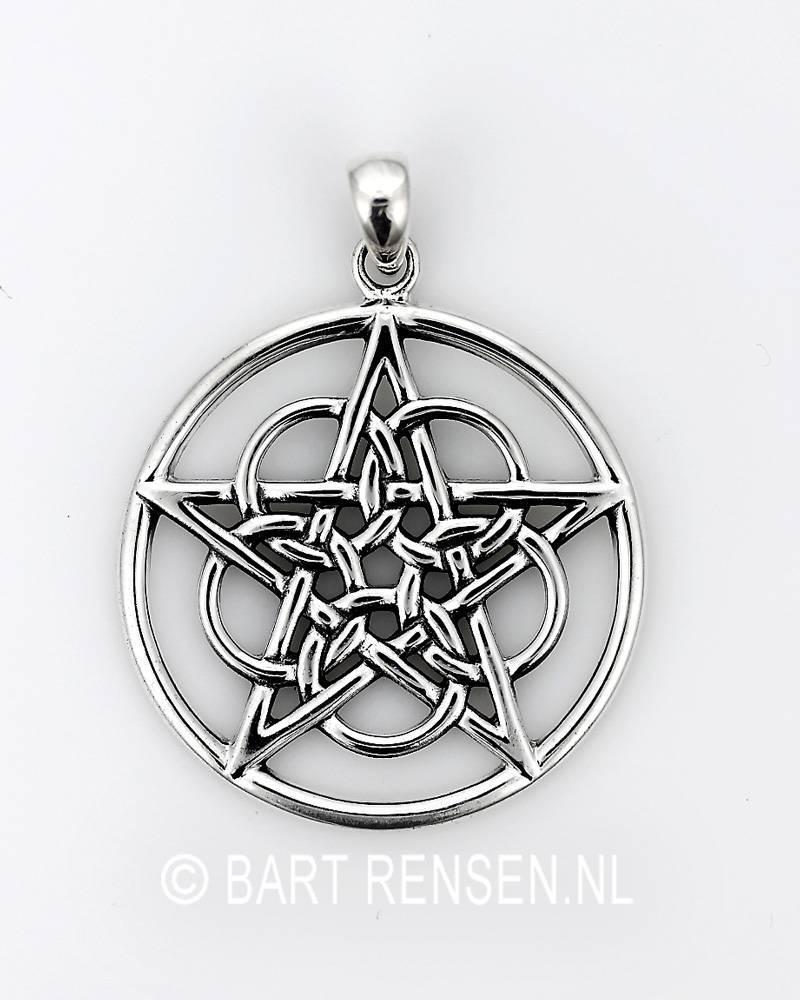 Pentagram pendant silver pentacle pendant circles sterling silver aloadofball Images
