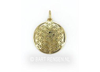 Golden Flower of Life pendants