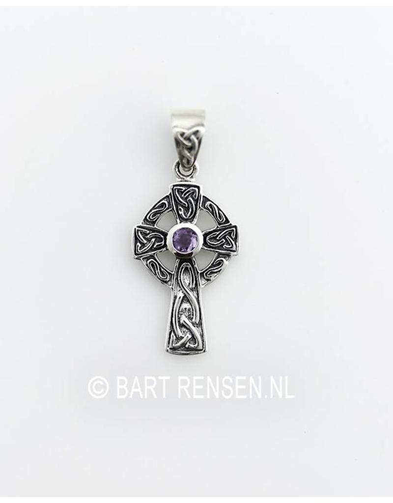 design img cross pendant ash cremation jewellery memorial celtic glass product