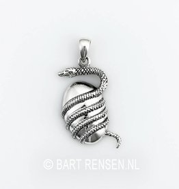 Snake pendant - silver