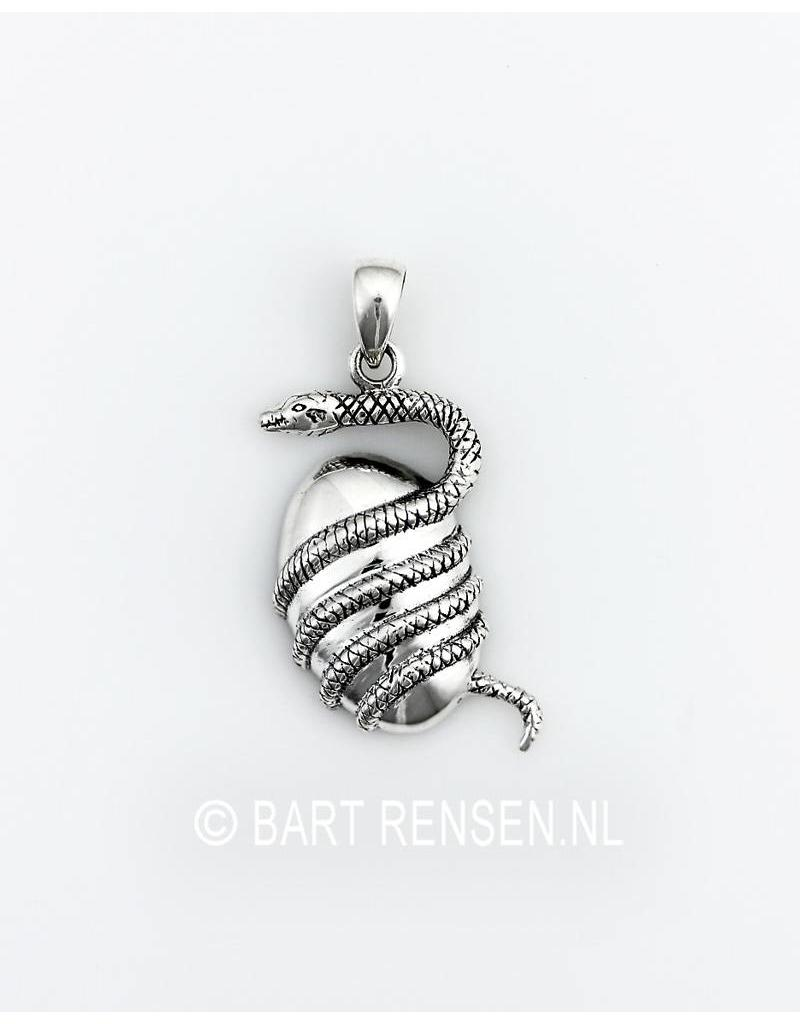 Snake pendant sterling silver snake pendant with egg sterling silver aloadofball Image collections