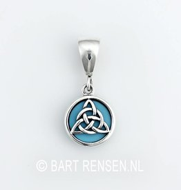Triquetra pendant with stone - silver