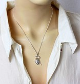 Snake pendant with Egg - silver 925