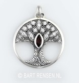 Levensboom hanger - zilver 925
