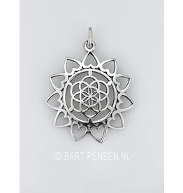 Seed of Life Lotus pendant - silver