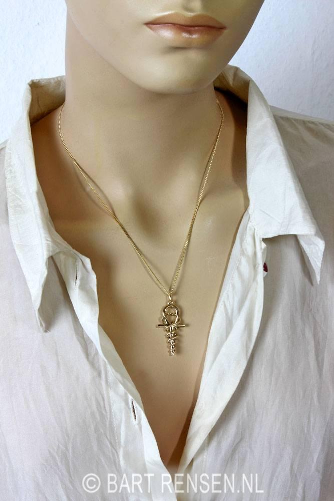 Ankh-Hermes pendant - Gold 585