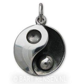 Yin Yang  As hanger - zilver