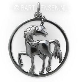 Unicorn pendant - silver