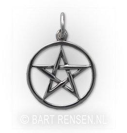 Zilveren Pentagram hanger