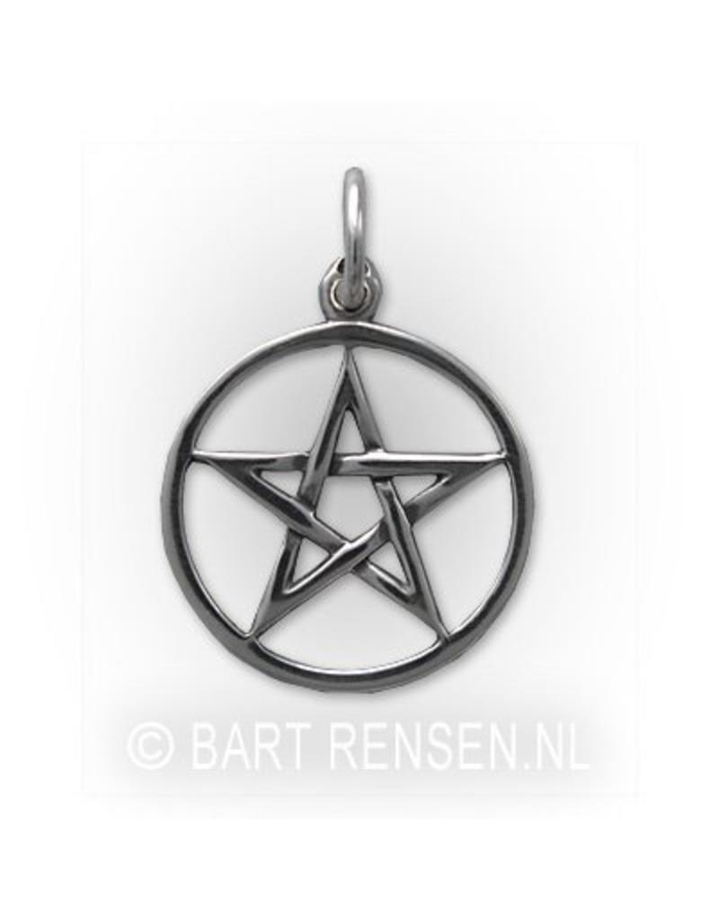 Silver pentagram pendant from pentagram pendant sterling silver aloadofball Choice Image