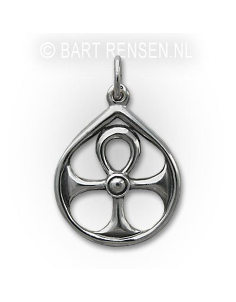 Ankh pendant in circle silver ankh pendant in circle sterling silver aloadofball Choice Image