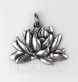 Lotusbloem hanger - zilver