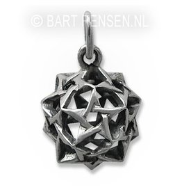 Pentagram Dodecahedron Pendant - Silver