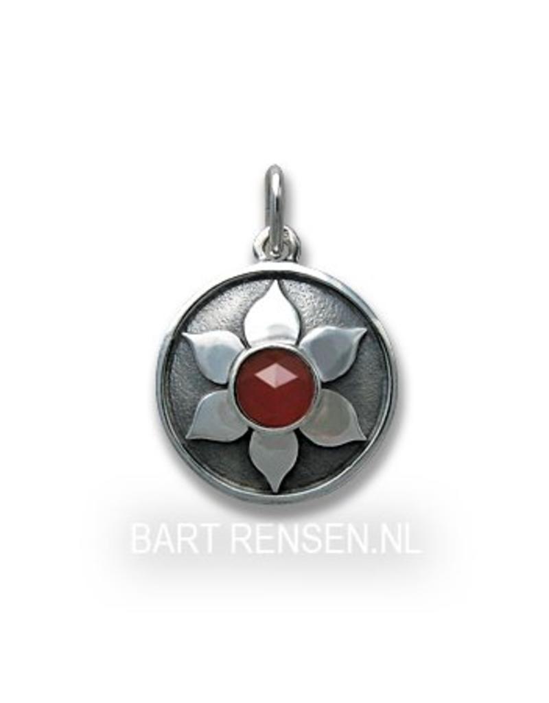 Chakra pendant - sterling silver- Carnelian stone