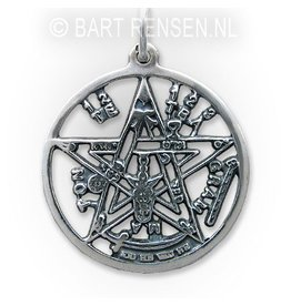 Heartagram pendant silver pentagram tetragammaton pendant silver aloadofball Image collections