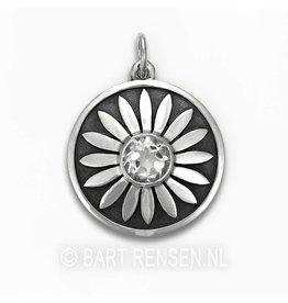 Lotus pendant with stone