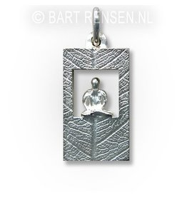 Meditatie hanger - zilver