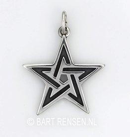 Pentacle pendant - silver