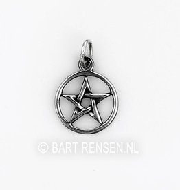 Pentagram hanger- zilver