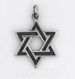 Hexagram pendant - silver