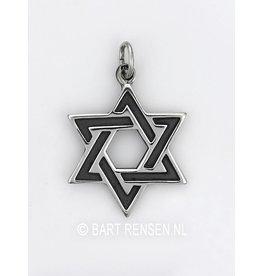 Hexagram hanger - zilver