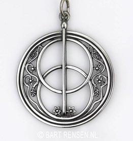 Vesica Pisces pendant - Silver