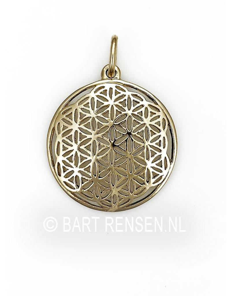 Flower of Life hanger  - 14 krt goud