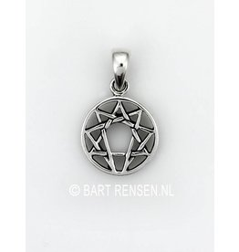 Enneagram pendant - silver