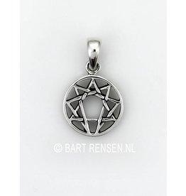 Zilveren Enneagram hanger