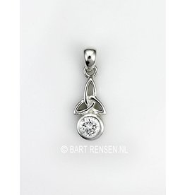 Triquetra pendant with stone- silver